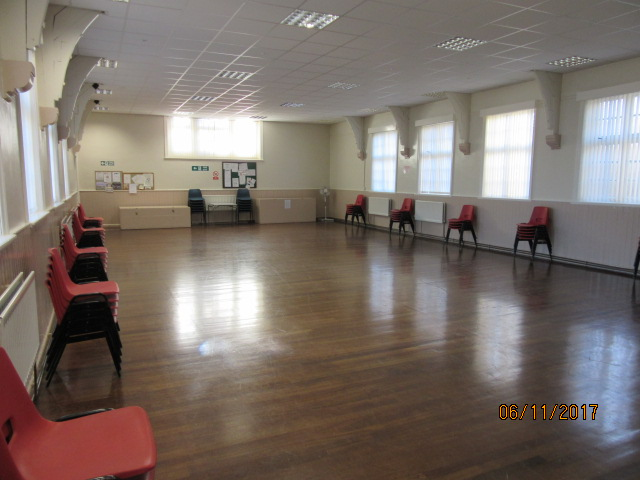 The main hall of Greenside Community Centre
